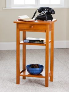 House Warming Gift Ideas - Wooden telephone table