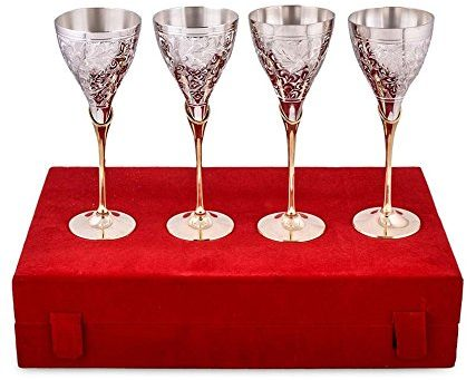 Set of silver Glasses - Griha Pravesh Gift Item Ideas