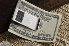 Silver Money clip - House Warming Gift Idea