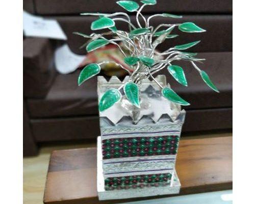 Silver Tulsi Plant - Griha Pravesh Gift